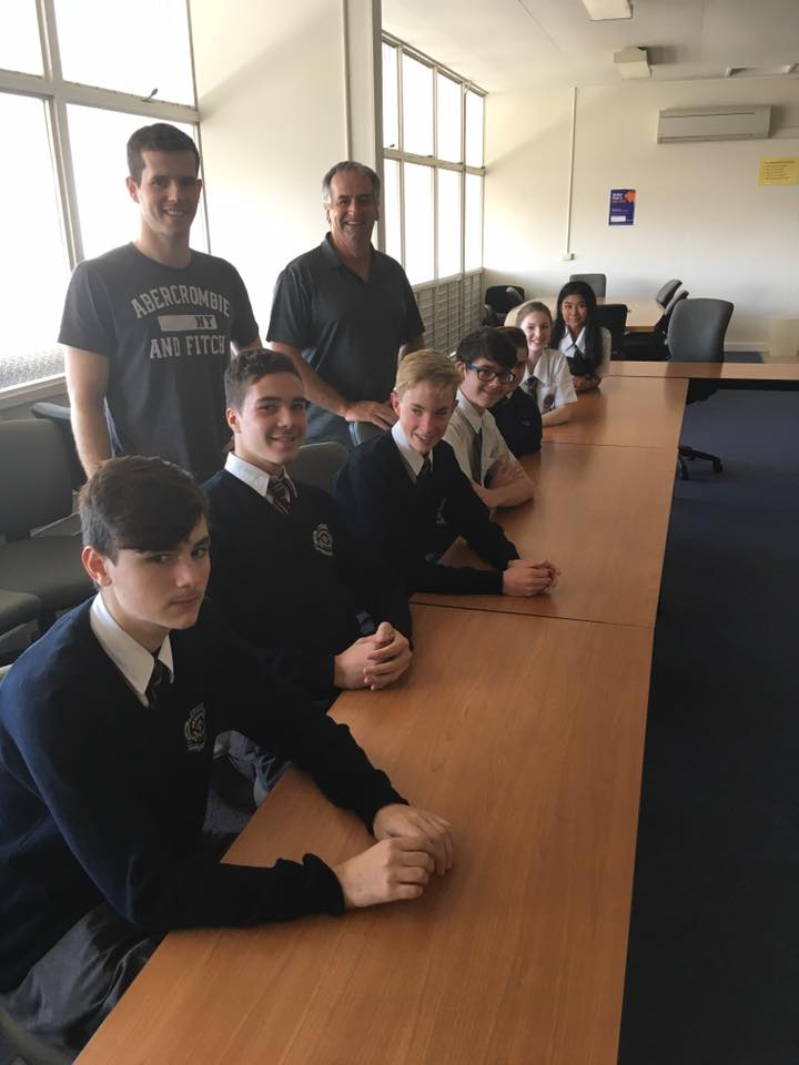 Geoff And Kyran Doyle As Guest Speaker At Everton Park State High School