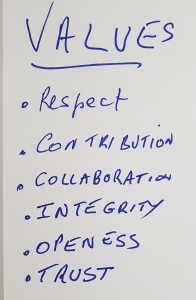 NOW Business Network core values image.